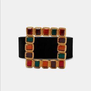 Zara Woman Belt with Bejeweled Buckle